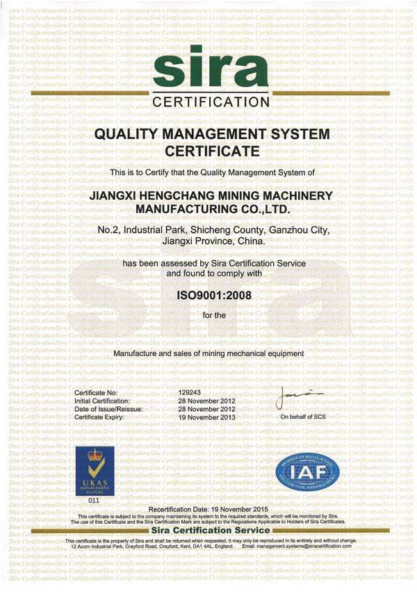 ISO9001 Certificate of Quality Management System(1)