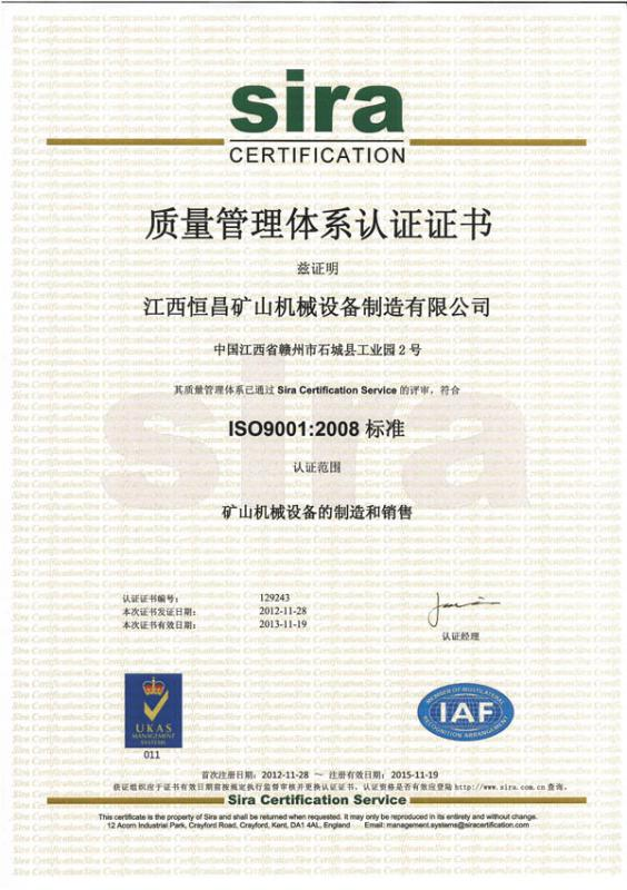 ISO9001 Certificate of Quality Management System(2)